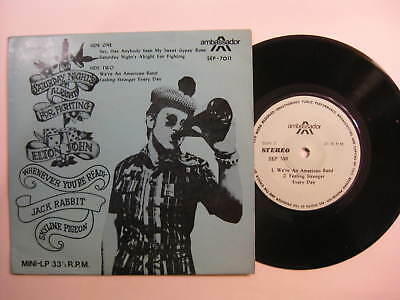 Elton John Saturday Night's Alright +3 EP Malaysia with custom sleeve RARE 1973