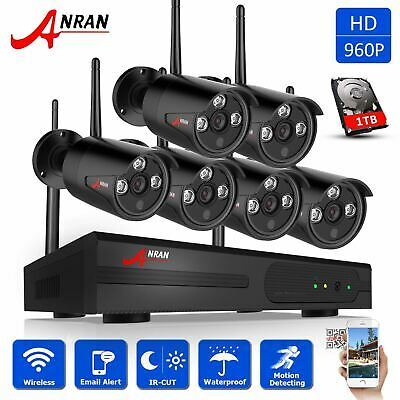 ANRAN 960P 8CH CCTV Wireless Security Camera System Outdoor 1TB HDD WiFi Cameras