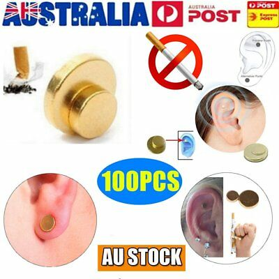 100pcs Quit Smoking Auricular Ear Magnet Therapy Smoke Weight Loss AcupressureVP