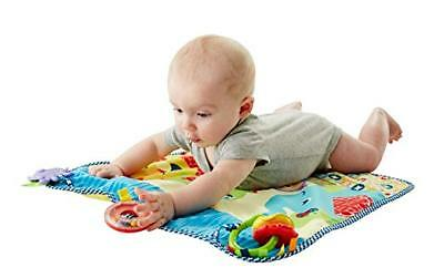 Fisher Price ON THE GO ACTIVITY THROW - Soft Washable Play Rug w/ Fun Baby Toys