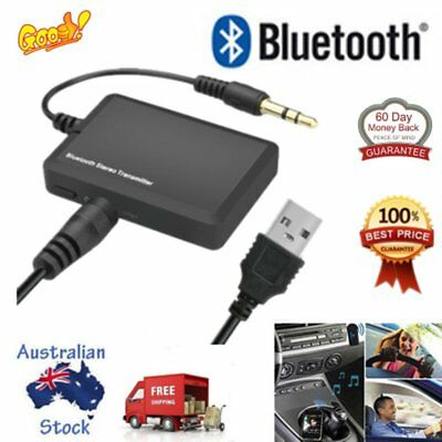 Bluetooth 3.5 A2DP Stereo Audio Adapter Dongle Sender Transmitter For TV Lot W4