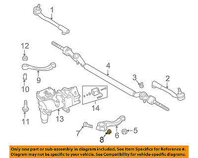 Remarkable Bmw Oem 95 01 750Il Steering Gear Pitman Arm Nut 07129964672 Wiring Database Plangelartorg