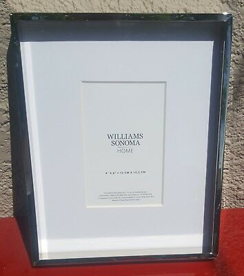 """NEW Williams Sonoma Home - 4"""" x 6"""" Polished Nickel Gallery Frame"""