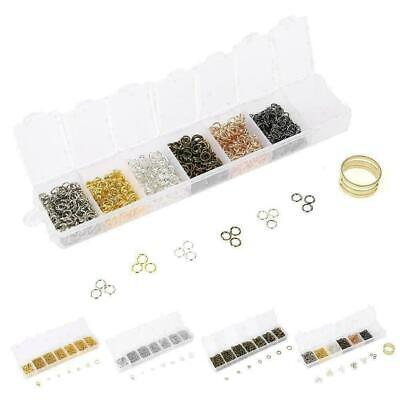 1 Set DIY Making Jewelry Findings Stainless Steel Opening Jump Rings Gold/Silver
