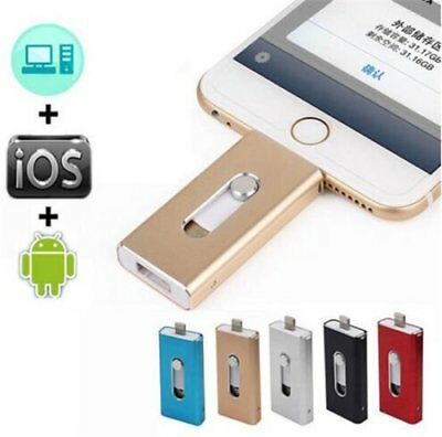128GB OTG Dual USB 3in1 Memory i Flash Drive U Disk For IOS iPhone iPad/PC VP