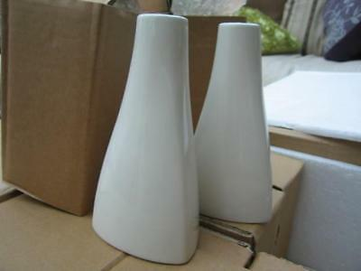 Large Job Lot/collection Of 370 Boxed White Glazed Pottery Trianular Vases