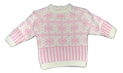 MIRCO MOTION BABY GIRL JUMPER SWEATER - PINK SIZE 00 6-9m