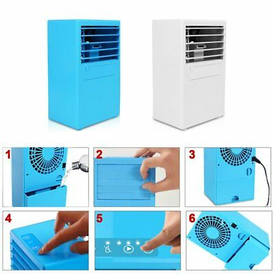 Mini Table Desk Air Conditioner Small Home Office Bladeless Fan Humidifier KN