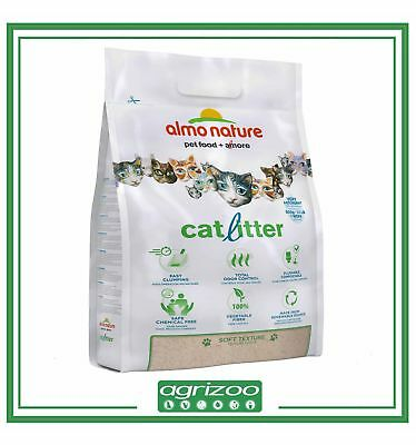 ALMO NATURE Lettiera Gatto Sabbia Agglomerante Catlitter Cat Litter WC 4.54 Kg
