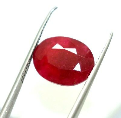 IGL Certified 6.90 Ct Top Quality Oval Cut Precious Bixbite Red Beryl X Mas Gems