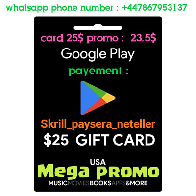 Google play Gift card promo 25$