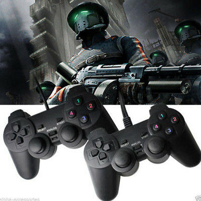 Wired Gamepad Black PS2 New USB2.0 Game Controller for Laptop PC Computer Z6R2Q