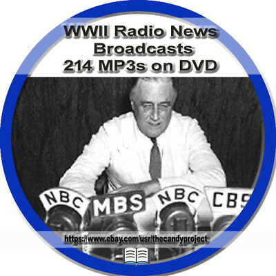 2254 mp3s WWII World War 2 Radio News Broadcasts DVD War Time audiobooks