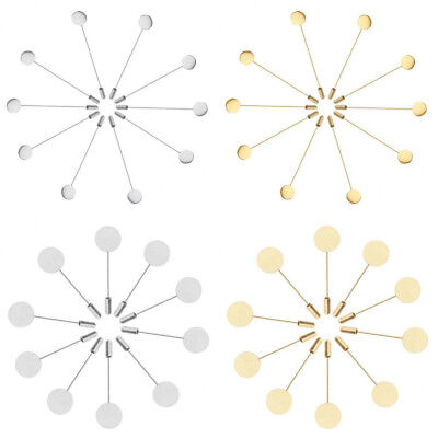10pcs Safety Pins Brooch Base with Flat Pad for Men Lapel Pin DIY Supplies