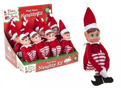 Girls Naughty Elf Girl Xmas A Props Christmas Toy Doll Put Xmas Plush on shelf