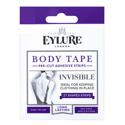 Eylure Body Tape 27 x Adhesive Strips -Holds Clothes Invisible Fashion Clothing