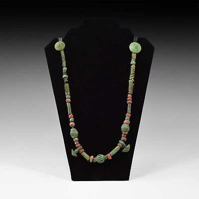 Viking Bead Necklace with bronze  Pendants    8th-9th century AD