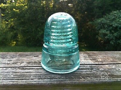 W. Brookfield 45 Cliff St NY Insulator 1883 & 1884 Fizzy Huge Bubble