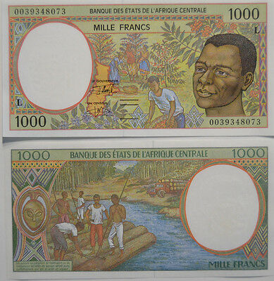 CENTRAL AFRICAN STATES (CONGO) 1000 (L) Francs 2000 UNC