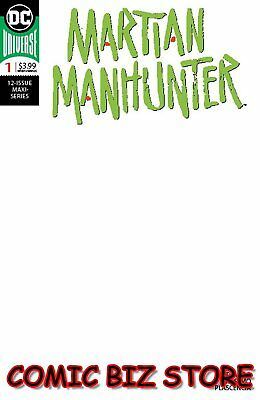 Martian Manhunter #1 (Of 12) (2018) 1St Printing Blank Variant Cover Dc Universe