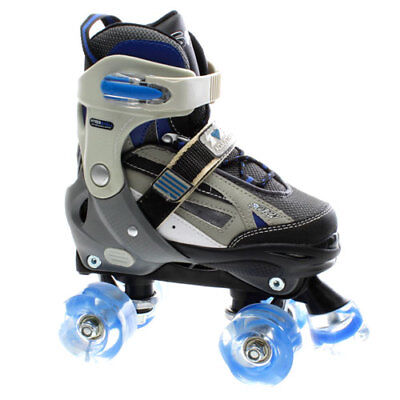 NEW SFR Typhoon Boys Blue Adjustable Quad Roller Skates - UK 3 - 6 - L