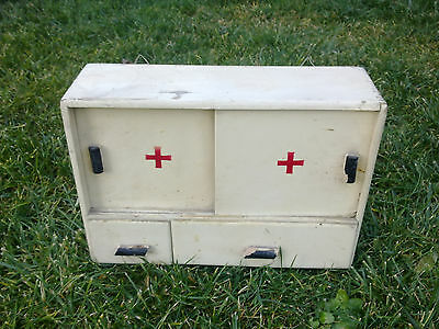 Very Rare!  Vintage Wooden Medicine apothecary, Box RED CROSS