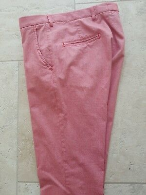 Boggi Milano Red Cotton Chinos Size 32 US / 48 EU