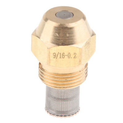 Brass Oil Burner Spray Nozzle with Filter Net Fits for Boilers/Water Heaters