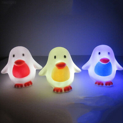 D863 Bright Luminous Glowing LED Room Bedside Night Light Penguin Cartoon Decor