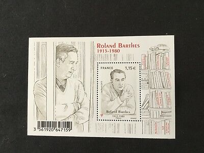 France Bloc Feuillet Timbres Neufs BF5006 2015 Roland Barthes