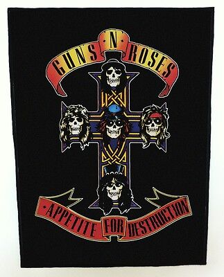 Guns N Roses appetite for destruction Back Patch XLG free worldwide shipping