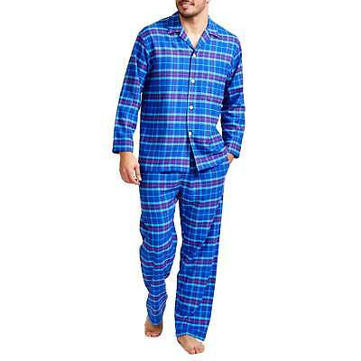 British Boxers Men's Ultra Violet Check Two-Fold Flannel Pyjama Set