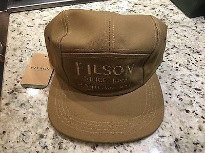 NEW! FILSON 5 Five Panel Cap Hat. Rugged Tan Canvas. Made In USA ... 3f37106499a0
