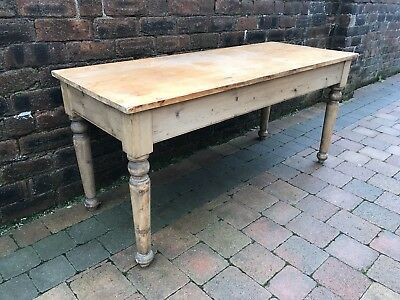 Old Rustic Farmhouse Pine Wooden Table - Dining/Console/Kids Size
