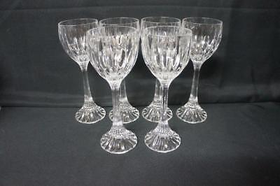 Six  Mikasa Crystal PARK LANE Wine Hocks Stems Glasses 8 1/4""