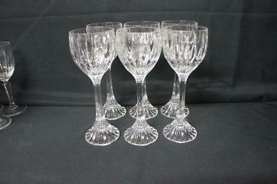 6 Six  Mikasa Crystal PARK LANE Wine Hocks Stems Glasses 8 1/4""