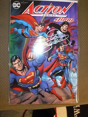 Action Comics 1000 Dan Jurgens Signed Coa Df Dynamic Forces Color Wrap Variant