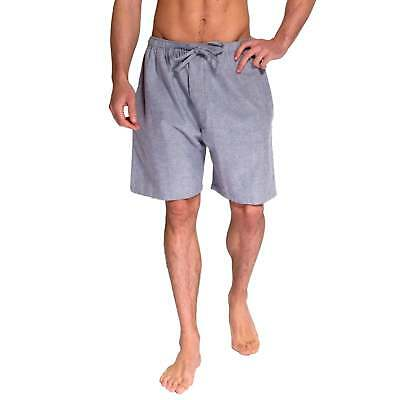 British Boxers Men's Ash Grey Herringbone Two-Fold Flannel Pyjama Shorts