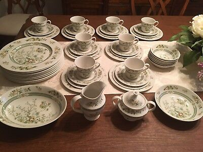 Royal Doulton TONKIN China Set Service for 8 Plus Hard to Find Serving Pieces!!!