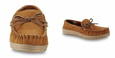 1b66dc414 Route 66 Men s Jordan Slippers Tan Suede Leather Rubber Sole Moccasins -  Size 10