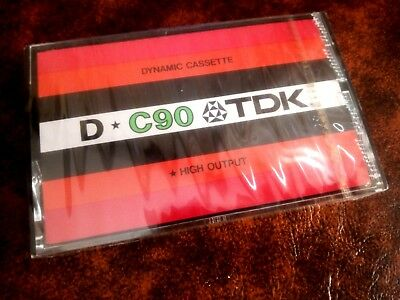 CASSETTE TAPE BLANK SEALED! - 1x (one) TDK D-C90 [1975-78] - made in Japan