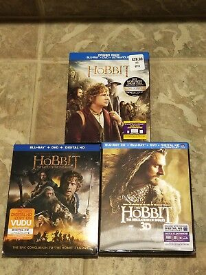 The Hobbit Trilogy Blu-ray lot with Slipcovers