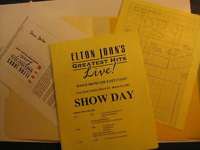 Elton John Greatest Hits Live 2002 camera crew map packet