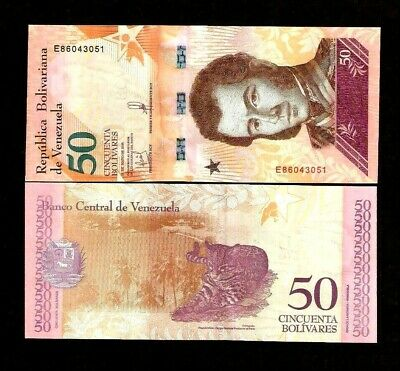 VENEZUELA 50 or 100 BOLIVARES 2018 SOBERANOS LEOPARD UNC ANIMAL MONKEY BANK NOTE