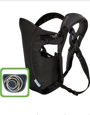 Evenflo Infant Soft Baby Carrier Creamsicle Padded Straps Adjustable Black New