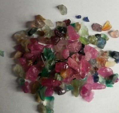 PAY DIRT Unsearched Multiple Colors Sapphire Ruby's PAY DIRT 20+Gold Nuggets