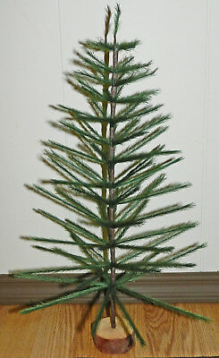 "Nice! Green 18"" Faux German Feather Tree Christmas Tabletop Limited Qty"