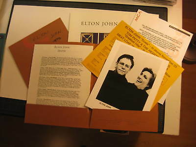 Elton John 1993 promo presskits DUETS album MCA + Phonogram France