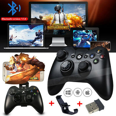 Wireless Bluetooth Gamepad Remote Game Controller+Holder For PUBG Mobile Phone