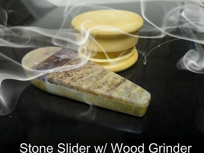 """3.5"""" Hand Carved Stone Slider Pipe Made  In Colorful Colorado/  No Glass or wood"""